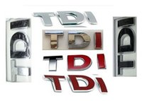 Wholesale Volkswagen Emblems Sale - Hot sale Auto Sticker TDI GTI Chromed Metal Emblem Badge Decal Sticker for Volkswagen Golf Car Styling by post air mail