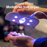 Wholesale Cable Nails - SUNmini 6w UV LED Lamp Nail Dryer Portable USB Cable For Prime Gift Home Use Gel Nail Polish Dryer Mini USB Lamp