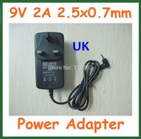 Wholesale Aoson Tablets - Wholesale- 10pcs Power Supply Adapter UK Plug 9V 2A 2.5mm   2.5x0.7mm Charger for Tablet PC Aoson M19 M11 Chuwi V3 Pipo M2 M3 M8 M8 3G