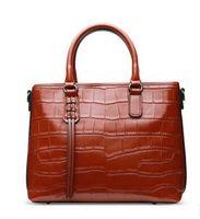 Wholesale Handbag Crocodile Skin - 2017 new Famous brands designer Genuine leather women messenger bags fashion crocodile skin ladies handbag shoulder bag