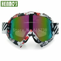 Wholesale Motorcycle goggle Colorful Lens clear Lens UV protection Adult Flexible Goggles men women Universal