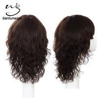 12-дюймовый полный парик шнурка бразильский оптовых-Индийские женщины короткие волосы волнистые парики, 100% парик шнурка человеческих волос полный с челкой 12 дюймов бразильский парик шнурка