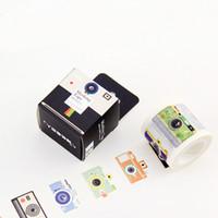 Wholesale Camera Craft - 1 x Camera 4cm X 10M kawaii washi tape photo album Scrapbook Adhesive decorative DIY Handmade Gift Card Arts Crafts paper tape-2016