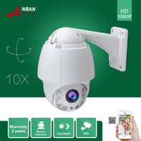 Wholesale Ip Camera Zoom Tilt - ANRAN Onvif HD Pan Tilt Zoom 1080P 2.0MP PTZ 10X Zoom Array IR Outdoor IP66 Waterproof Outdoor Home Security CCTV IP Camera