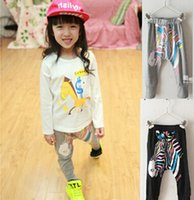 Wholesale Leopard Print Leggings For Kids - girls herem pants summer fashion leggings leopard trousers for kids girl 100% cotton baby clothing autumn spring children clothing 2017 new