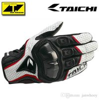 Wholesale Armed Motorcycle - Free shipping The Latest RS TAICHI RST390 Armed Leather Mesh Gloves Motorcycle riding gloves Knight breathable gloves red black white