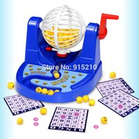 Wholesale Bingo Game - Wholesale- Complete Bingo Game Set Cage Balls Cards Markers Board Kit Family Night Fun Game Desktop Toys
