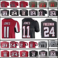 Man Atlanta 11 Julio Jones 24 Devonta Freeman 2 Julio Jones 21 Deion Sanders maglie ricamo Logos Maglie di alta qualità