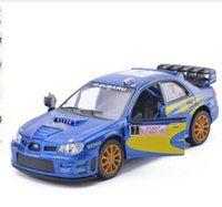 Wholesale Toy Car For Free - New KiNSMART 1:36 Scale Subaru Impreza WRC 2007 Racing Diecast Metal Car Model With Pull Back For Kids Gift Toys Free Shipping