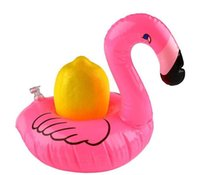 Wholesale 2017 Flamingo Drink Swimming Floats Inflatable Holder Palm Tree Swan Cup Holder Outdoor Water Floating Party Swimming Bath Kiddie Pool Toys