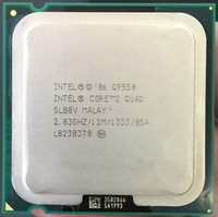 Wholesale Quad Desktop - Original used cpu Core 2 Quad Q9550 Processor 2.83GHz 12MB L2 Cache FSB 1333 Desktop LGA 775 CPU (working 100% Free Shipping)