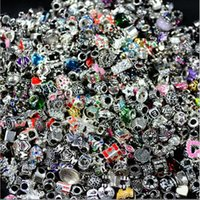 Wholesale large oval beads - 2017AAAAA Manufacturers wholesale mixed alloy large hole beads Europe and the United States DIY Pandora bracelet jewelry accessories beads