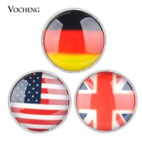 Wholesale Jewelry National Flags - Vocheng Noosa Interchangeable Snap Buttons Jewelry Accessory National Flag Style Ginger Snap Jewelry (Vn-415)