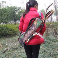 Wholesale Back Quivers - Hot Camouflage Archery Quivers Durable Portable Outdoor Hunting Training Bow Quiver Bag Oxford Fabric Arrows Holder Back Bag