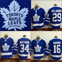 Wholesale Wholesale Leafs Jerseys - #29 William Nylander Jersey, Men's 2016 New Toronto Maple Leafs 34 Auston Matthews 100% Stitched Embroidery Logos Hockey Jerseys Blue S-3XL