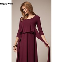 Wholesale Clothes For Office Lady - Fashion Nursing Maternity Clothes Maternity Dress Elegant New Year Evening Party Dresses For Pregnancy Black Skirt Office Lady Vestidos Hot