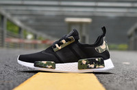 Wholesale Lady Shoes Spikes - Men Women Athletic NMD Runner R1 W CAMO KAWS Olive Green Running Shoes Ladies xr1 Primeknit Sport Trainers 36-45