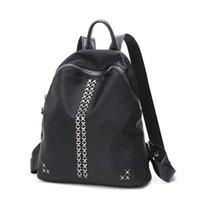 Wholesale Leather Japanese Girls - genuine leather school bag for teen girls and ladies packback japanese school bag black