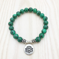 Wholesale natural malachite jewelry for sale - Group buy SN1047 High Quality Malachite Bracelet Chakra Healing Crystals Jewelry Natural Stone Men s Bracelet Hot Sale