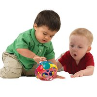 Wholesale Educational Walker - Wholesale- Soft Flexible Kids Baby Newborn Plastic Colorful Grasping Scroll Walker Rattles Toys Infant Educational Bell Bendy Ball