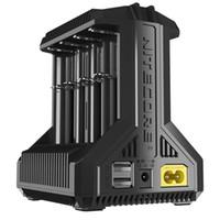 saída da bateria usb venda por atacado-Carregador Inteligente Autêntico Nitecore i8 Multi-Slot 8 Baterias 18650 26650 Saída USB Custos de Carga I8 Poupança de Tempo 100% Original