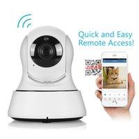 seguridad de vigilancia en interiores al por mayor-HD Seguridad para el hogar WiFi Baby Monitor 720P Cámara IP Visión nocturna Red de vigilancia Cámaras para bebés en interiores