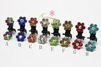 Atacado 100pcs Crystal Flower Mini Hair Claw Clip Hair Clamp Grip