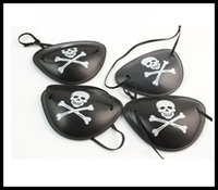 Wholesale Wholesale Pirate Eye Patch - Skull pirate eye patch Plastic monocular pirate eye patch COS and performance show Holiday decoration 4 styles Fancy dress eye mask