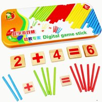Wholesale Wooden Math Sticks - Hot Sales Montessori Wooden Number Math Game Sticks Lepin Box Educational Toy Puzzle Teaching Aids Set Materials