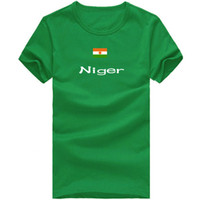Wholesale Juniors Tees - Niger T shirt Junior sport short sleeve Martial arts tees Nation flag clothing Unisex cotton Tshirt
