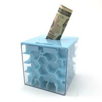 ingrosso scatole bancarie-Salvadanaio 3D Maze Creazioni per bambini labirinto giocattoli labirinto Regali per bambini Piggy Bank