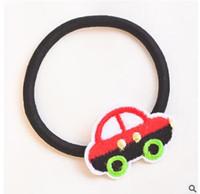 Wholesale Hair Band Hooks - Hand-woven cartoon hair bands appliance with hook ball elastic headdress flower children shipping free