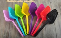 Wholesale Nylon Cooking - New Large Nylon Strainer Scoop Basket Colander kitchen Accessories gadgets Drain Vegies water Scoop cozinha gadget cooking tools