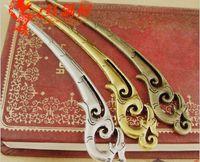 Wholesale Tibetan Metal Bookmarks - 14*93MM Antique Bronze Phoenix hairpin tibetan silver, vintage feather hair sticks jewelry, metal bookmark gold fashion jewellery wholesale