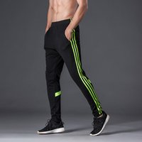 Wholesale Camp Track - jogger pants football training 2017 soccer pants active sweatpants jogging home trousers sport running track GYM mens Joggers Male sweat