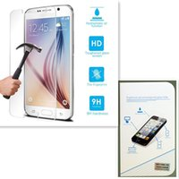 Wholesale Glass Screen S3 Iphone - 0.2mm 9h Front Tempered Glass film for iPhone 4 5 6 6S 7 plus Samsung Galaxy S3 S4 S5 S6 screen protector phone screen cover film