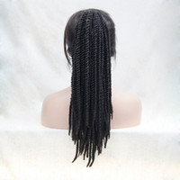 peinados de tejido rizado rizado al por mayor-Envío gratis hermosa encantadora caliente Nueva Moda caliente Afro Kinky Curly Weave Ponytail Peinados Negro mezcla Auburn Brown Clip