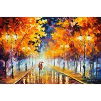 Wholesale Hand Painted Oil Reproductions - endless love hand painted palette knife oil painting reproduction Landscapes wall art