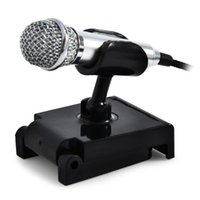 Wholesale Directional Condenser - Uni-directional Wired Microphone Metal Mini Mobile Phone Tablet Condenser Microphone with Stand Studio Microphone For Computer