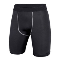 Wholesale Skins Compression Wholesale - Wholesale-Quick Dry Men Base Layer Cycle Tight Skin Compression Solid Shorts