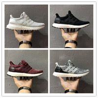 Wholesale Women Nude High Quality - 2017 Ultraboost 3.0 Triple Black Running Shoes Men Women High Quality Ultra Boost 3 III Core Black White Athletic Shoes EUR 36-45
