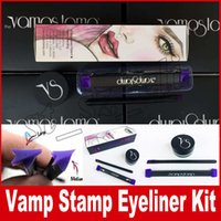 Wholesale Wholesale Black Cream Eyeliner - Vamp stamp seals Eyeliner Silicone Swing Stamp eyeliner tools large medium kitten Vavavoom Black Color Kit