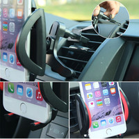 Wholesale Iphone Auto Rotate - 2017 New 360 Degree Rotating Auto Universal Car Air Vent Mount Holder For iPhone  Samsung Cell Phone GPS Car Phone Holder Air Vent