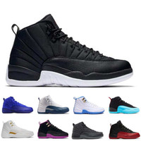 Wholesale Winter Footwear For Men - [With Box] Wholesale Hot sell OVO Air Retro XII 12 basketball shoes for men athletic trainer sports footwear 12s black whtie sneaker Women
