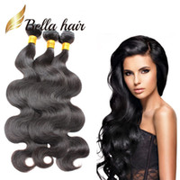Wholesale queens peruvian hair - 3Bundles 100% Unprocessed Peruvian Human Hair Weft Natural Color 8A Queen Hair Wavy Body Wave Hair Weaves Free Shipping