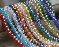 Wholesale AB Multicolour abacus crystal glass loose beads faceted colors jewelry making