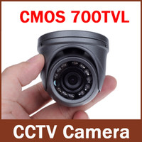 700TVL 1/4 '' CMOS 12 LED Night Vision 3.6mm Lens Outdoor / Indoor Metallo Impermeabile Mini Dome Camera Security CCTV Camera