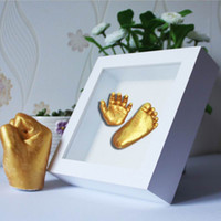 Wholesale Amp Feet - Gifts Keepsakes Handprints Footprints Baby Hands Amp Foot 3D DIY Plaster Casting Mini Kit Kids Gifts