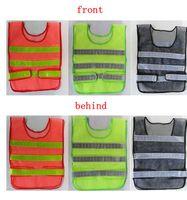 reflektierende baukleidung großhandel-Sicherheitsbekleidung reflektierende Weste Hohlgitter Weste hohe Sichtbarkeit Warnung Sicherheit arbeiten Bau Verkehrsweste KKA1464