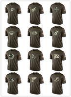 nhl jersey barato al por mayor-Moda 2017 NHL Salute A Servicio de Colección Camisetas Barato Camisetas de Béisbol Camisetas Logos Big Tall Banner Buen Quanlity Camuflaje